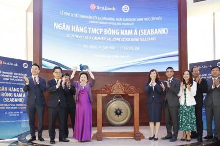 Hơn 1,2 tỉ cổ phiếu SeABank chính thức giao dịch trên sàn chứng khoán
