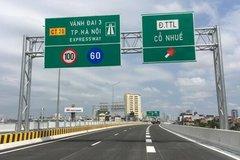 Đường vành đai 3 trên cao Mai Dịch - cầu Thăng Long cấm toàn bộ phương tiện