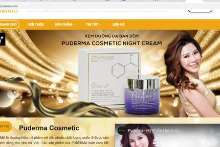"""Mỹ phẩm Hàn Quốc Puderma bán hàng """"chui"""" trên website thương mại điện tử"""