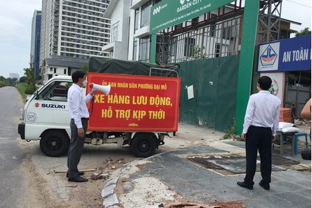 Hà Nội: Phường Đại Mỗ với xe hàng lưu động nặng nghĩa, nặng tình