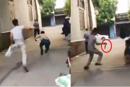 Gã đàn ông cầm dao ra đường truy sát cán bộ chốt kiểm dịch Covid-19