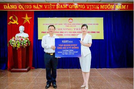 Tập đoàn Kosy tài trợ 3 tỷ đồng cho chương trình ''Sóng và máy tính cho em'' tỉnh Lào Cai